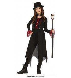 Gotische Dracula Met Duistere Krachten Meisje Kostuum