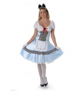 Charmante Sprookjes Alice Vrouw Kostuum