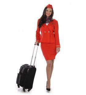 Stewardess Zachte Landing Vrouw Kostuum