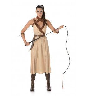 Zand Soldaat Woestijn Amazone Oudheid Vrouw Kostuum