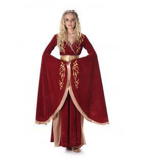 Middeleeuwse Koningin Grunhilde Van Zweden Vrouw Kostuum