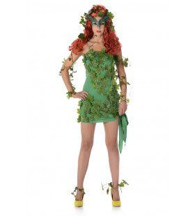 Bosfee Versierd Met Klimop Vrouw Kostuum