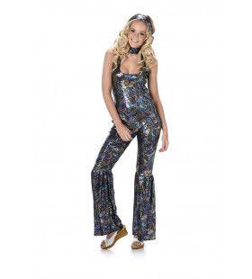 Paisley Patroon Jumpsuit Hippie Vrouw Kostuum