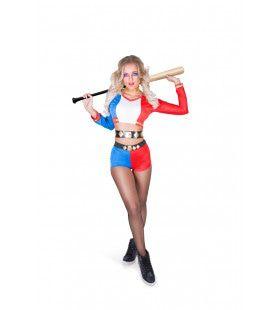 Rebelse Cheerleader Amerikaanse Sporten Vrouw Kostuum