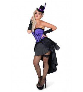 Burleske Cancan Dame Montparnasse Vrouw Kostuum