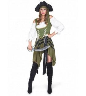 Degenvechter Caraibische Zee Piraat Vrouw Kostuum