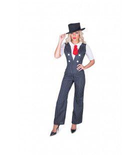 Gangster Dame Met Stijl Vrouw Kostuum