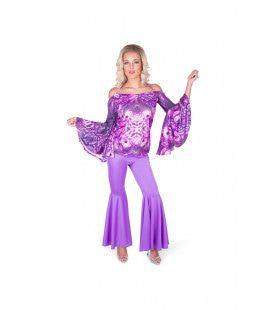 Psychedelisch Caleidoscopisch Jaren Disco Vrouw Kostuum