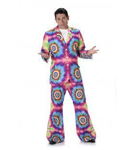 Tie Dye Techniek Hippie Man Kostuum