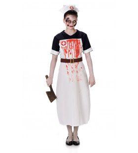 Zombie Verpleegster Kinderweeshuis Vrouw Kostuum