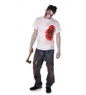 Lelijke Brandwond Zombie Shirt Man