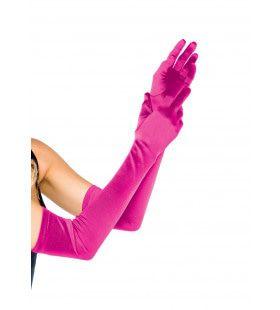 Satijnen Handschoenen Extra Lang Roze