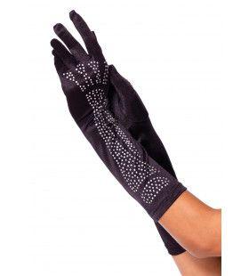 Handschoenen Met Bot-Motief In Briljantjes