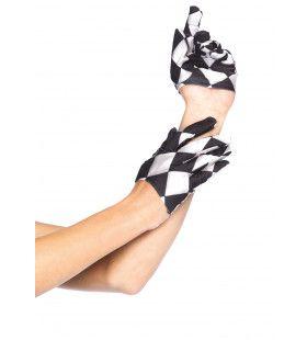 Zwart-Witte Harlekijn Handschoenen