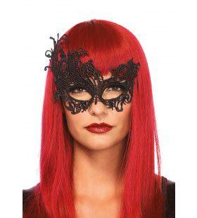 Assymetrisch Venetiaans Kattenmasker Zwart