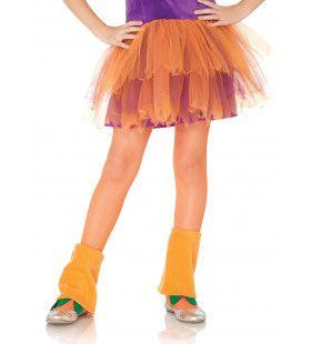 Tiener Visnet Panty Oranje