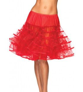 Medium Lange Petticoat Rood