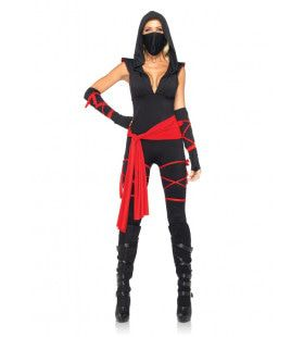Sexy Ninja Bodysuit Set Vrouw Kostuum