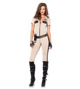 Spannend Politie Catsuit Vrouw Kostuum