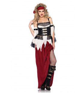 Middeleeuwse Boerin Sexy Lange Jurk Vrouw