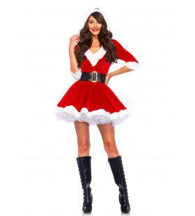 Feestelijke Sexy Korte Rode Kerstvrouw Jurk