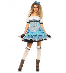 Stoute Alice In Wonderland Vrouw Kostuum