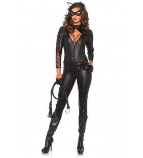 Bdsm Kitty-Cat Catsuit Vrouw Kostuum