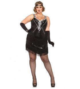 Chique Pailletten Dames Flapper Ms Stoner Vrouw Kostuum