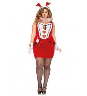 Rode Hartendame (Plus Size) Vrouw Kostuum