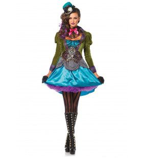 Policolor Mad Hatter Pyschedelic Jurk Vrouw