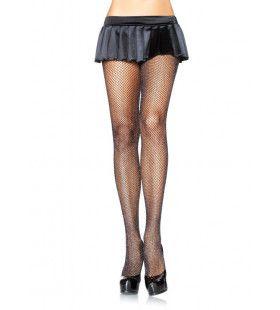 Visnet Panty Met Glitter Elasthaan Zwart