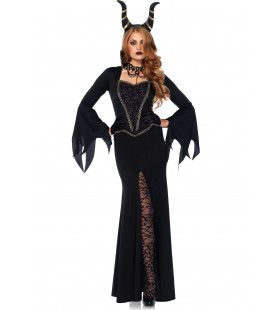 Zwarte Duivelskoningin Vrouw Kostuum
