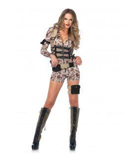 Army Sexy Jane Vrouw Kostuum