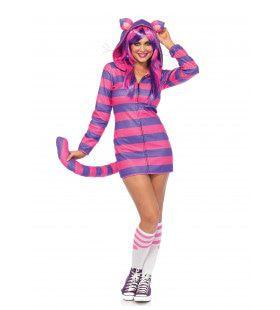 Cheshire Cat Uit Alice In Wonderland Vrouw Kostuum