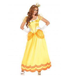 Gele Zonnebloem Prinses Vrouw Kostuum