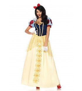 Luxe Sneeuwwitje Sprookjesbabe Vrouw Kostuum