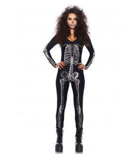 Skelet Catsuit Realistisch Vrouw Kostuum