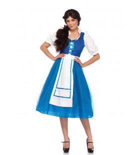 Blauwe Boerin Vrouw Kostuum