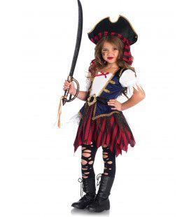 Caribische Mini Piraatje Meisje Kostuum