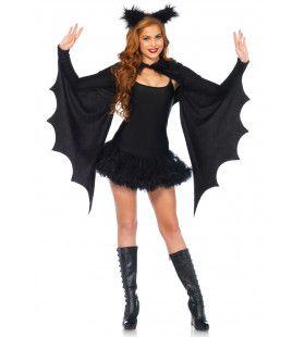 Groot Vleugel Vleermuis Vrouw