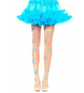 Panty Met Glitter Sneeuwvlokken