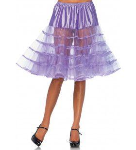 Knielange Petticoat Twist Licht Paars