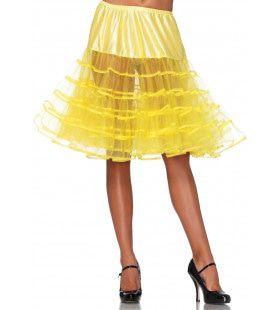 Knielange Petticoat Twist Geel