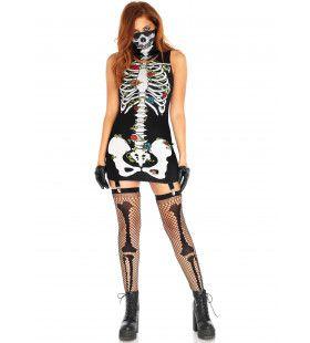 Bones-N-Roses Jarretel Jurkje Vrouw