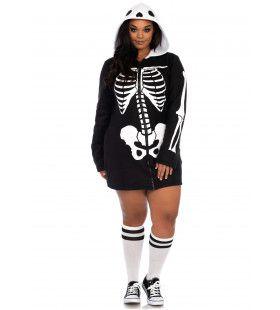 Botten En Beenderen Skelet Jurk Plus Size Vrouw
