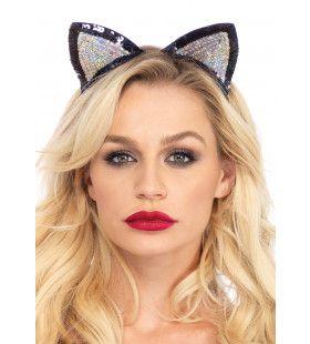Haarband Met Pailletten Kattenoortjes