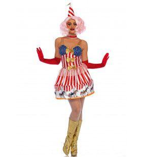 Draaimolen Kermis Clown Vrouw Kostuum