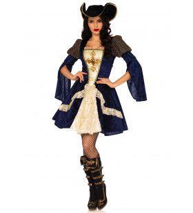 Glamoureuze Musketier Vrouw Kostuum