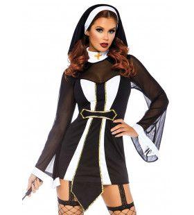 Holy Mary Wat Een Non Vrouw Kostuum