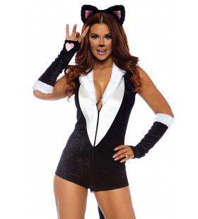 Frisky Kitty Dartele Kat Vrouw Kostuum